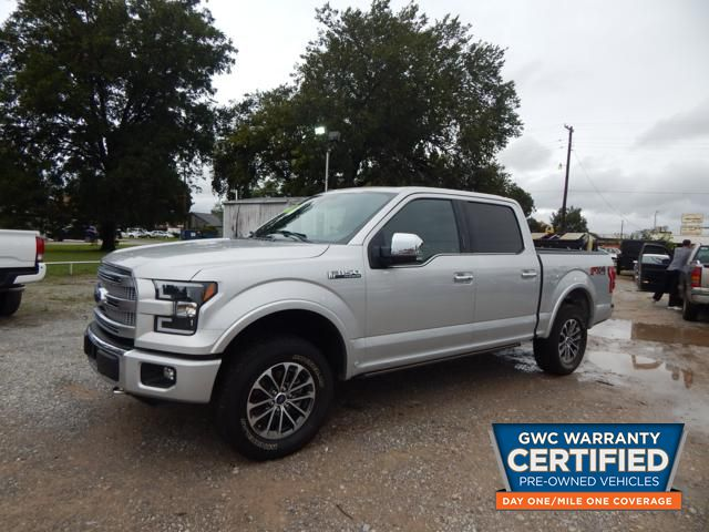 Pre-Owned 2015 FORD F150 SUPERCREW PLATINUM FX4